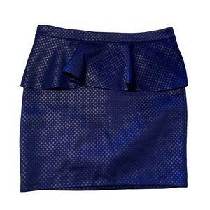 BEBE Pretty Blue Peplum Skirt!